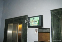 Fnite lift entrance lcd advertisement media