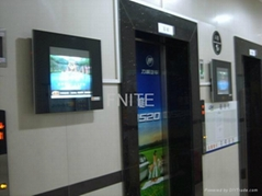 Fnite lift entrance  high transmittance  lcd advertisement machine