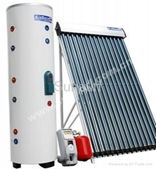 separate pressurized solar water heaters