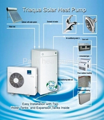 Solar water heater heat pump air to