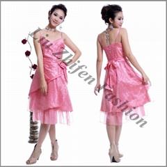 Factory direct wholesale beading short evening dress