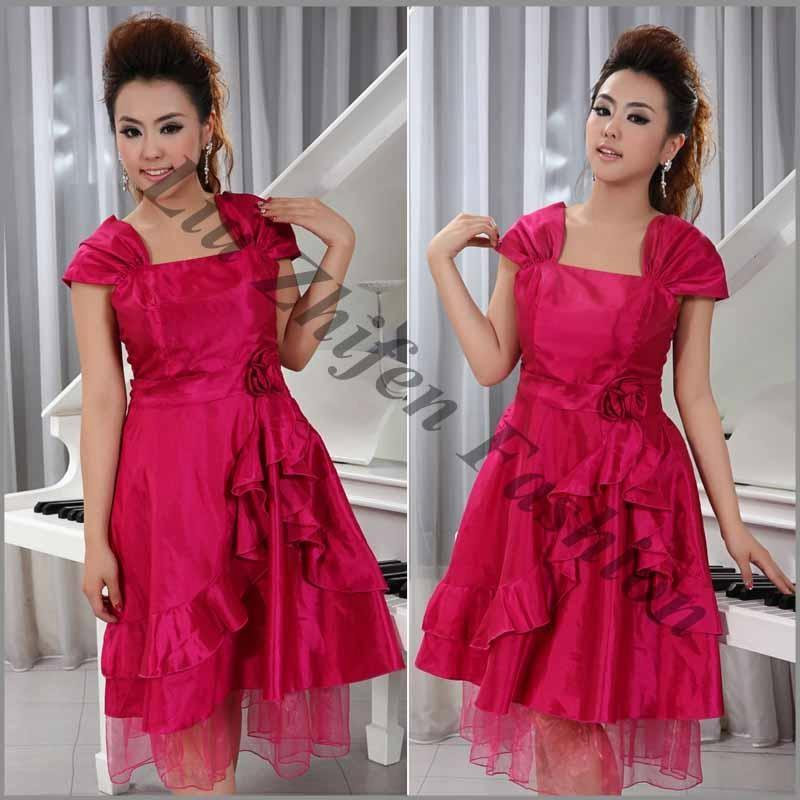 Fashion design short taffeta with sleeve evening dress - dress 28828 ...