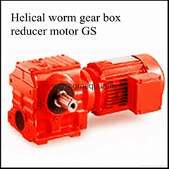 helical worm gearbox speed reducer