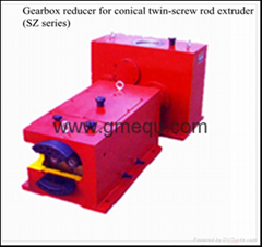 Gear box speed reduction for twin screw extruder