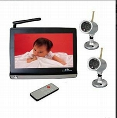 2.4G Wireless Bayby Monitor with 7 Inch TFT LCD, IR 5M