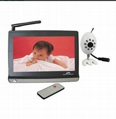 2.4G Wireless Bayby Monitor with 7 Inch TFT LCD, IR 7M