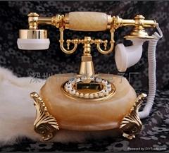 玉石仿古电话机