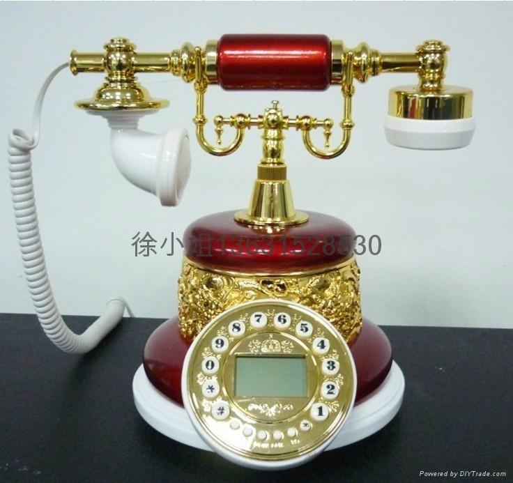 酒红仿古电话机批发 1