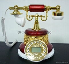 酒紅仿古電話機批發