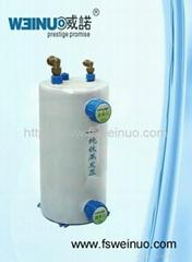 Shell and tube titanium evaporator