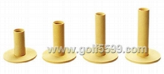 golf tee with rubber top