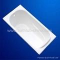 cast iron enameled bathtub 1