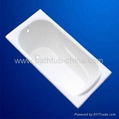 cast iron enameled bathtub