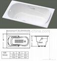 cast iron enameled bathtub 2