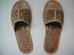 创新环保绿色一次性拖鞋