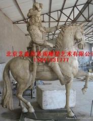 玻璃鋼雕塑玻璃鋼產品-馬雕塑