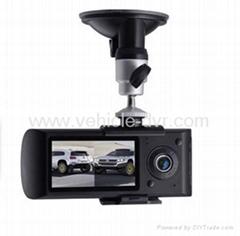 X3000  Dual cameras Car DVR Car Black Box with GPS/google map