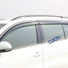 10途观车窗注塑带亮条晴雨挡