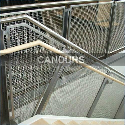 Stainless Steel Woven Wire Mesh Balustrade
