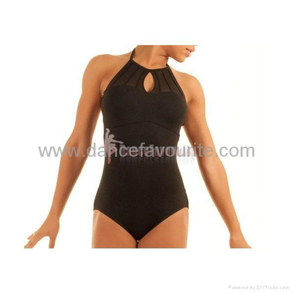 Adult camisole halter leotards with keyhole.