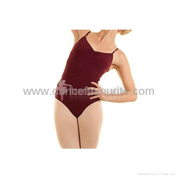 Adult camisole leotards with front pinched