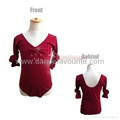 Child Front Twist Long Sleeve Leotards