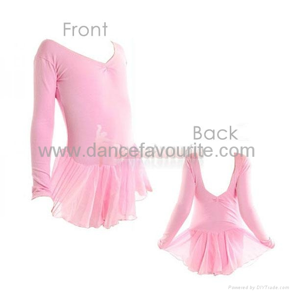 Chiffon skirted leotard