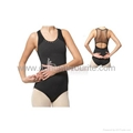 Tank Leotards with mesh and rhinestiones