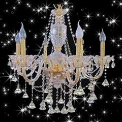廣東中山高檔水晶燈現代燈新款吸頂燈壁燈臺燈