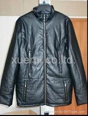 Man leather coat