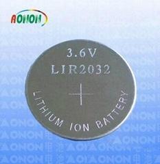 LIR2032 li ion button cell