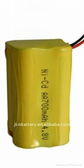 4.8V-AA-700mAh Ni-CD rechargeable battery pack
