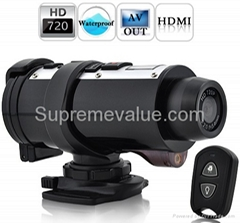 720p HD waterproof sport camera used for hunting and all kinds of sport