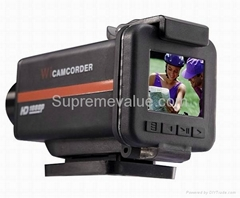 1080p HD waterproof extreme sport camera can be used as car DVR