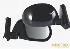 black auto rearview mirror