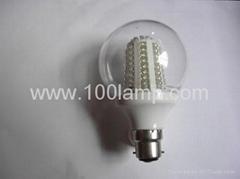 太阳能透明球泡灯 G80 76LED