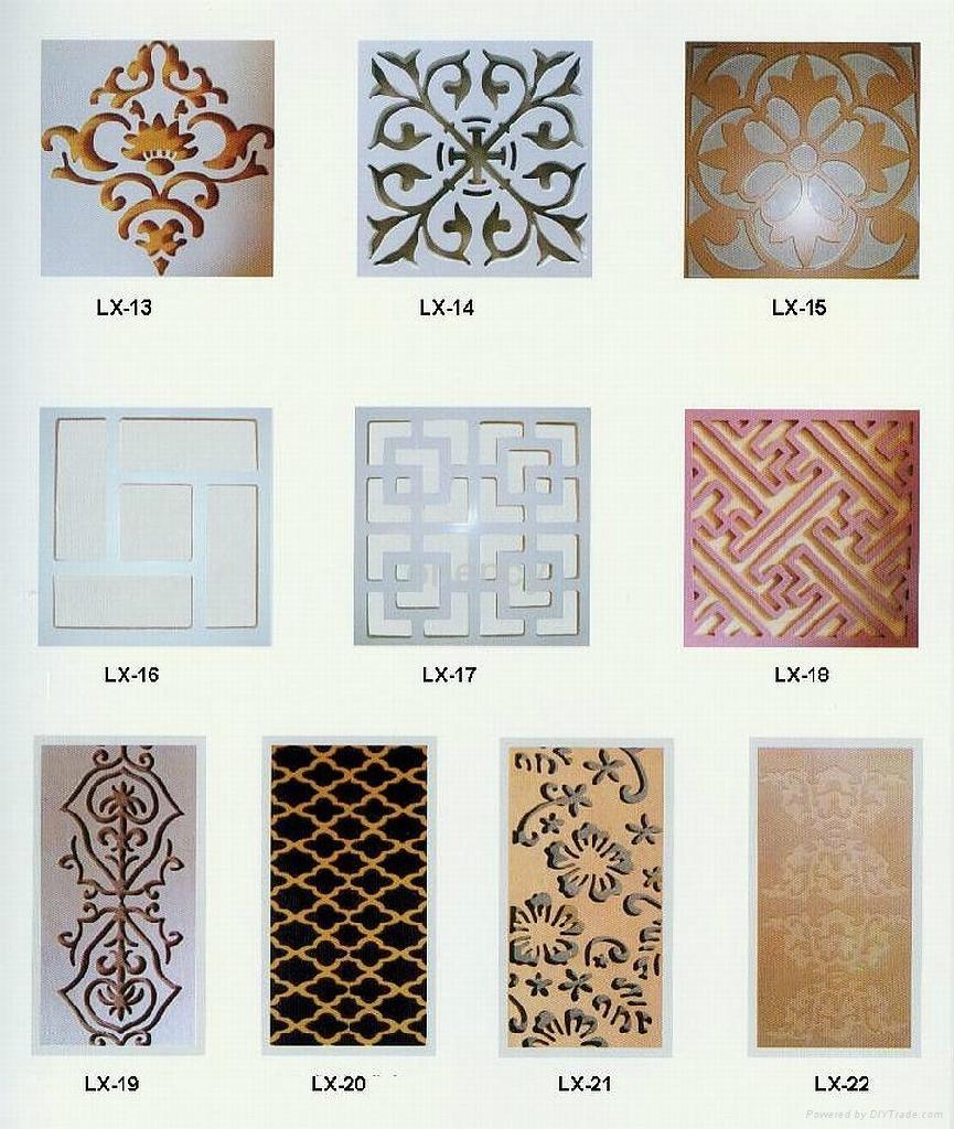 Mdf decorative grille panel for Decorative mdf