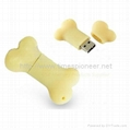 1GB Bone Shape Rubber USB Flash Memory