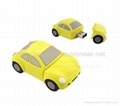 2GB Car Shape Rubber USB Flash Drive