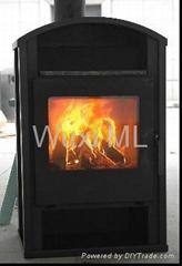 34獨立垂直式燃木壁爐