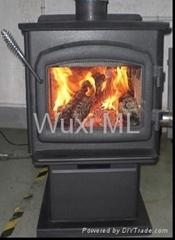 40獨立臥式燃木壁爐
