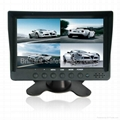 4 Channel inputs Car Monitor LCD quad Monitor