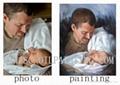 100% handmade portrait oil painting on canvas