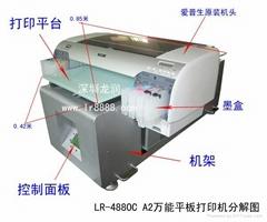 高速寫真彩印機UV平板寫真機
