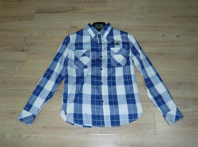 男式全棉格子衬衫 1