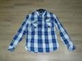 100%cotton men plaids shirt