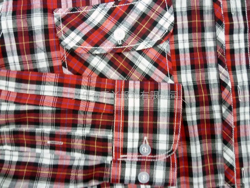 男式全棉格子衬衫 3