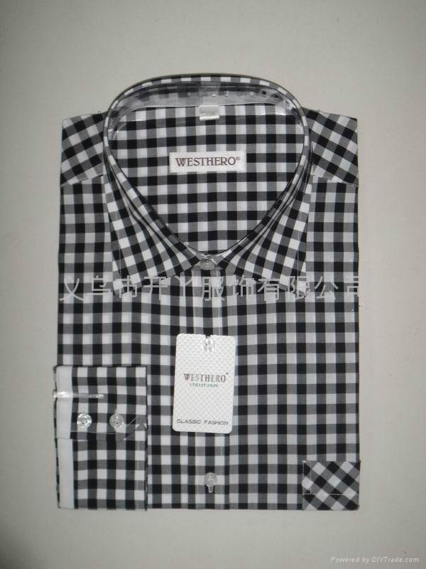 男式全棉格子衬衫 4