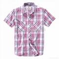 男式全棉格子衬衫 5