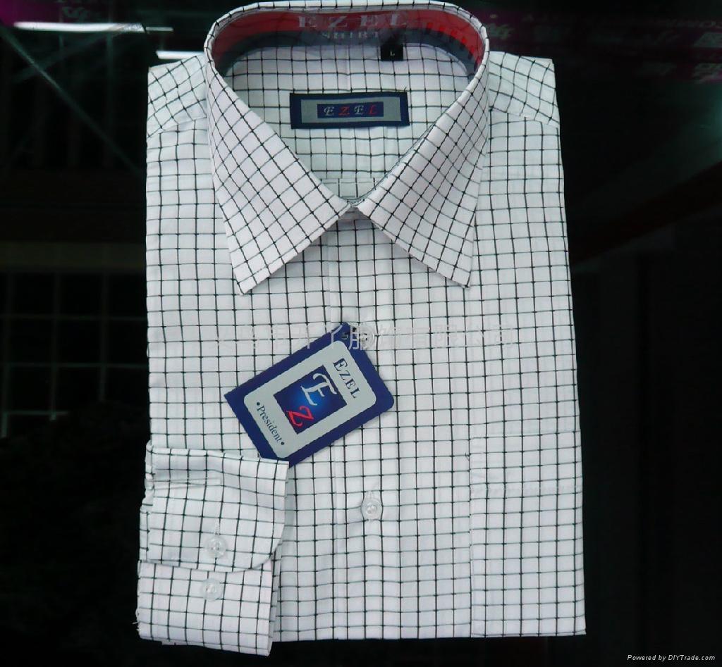 T/C 男式衬衫(格子布) 1